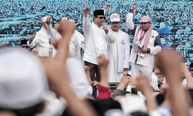 Ini Pidato Lengkap Prabowo Subianto di Reuni Akbar 212: Terimakasih Panitia