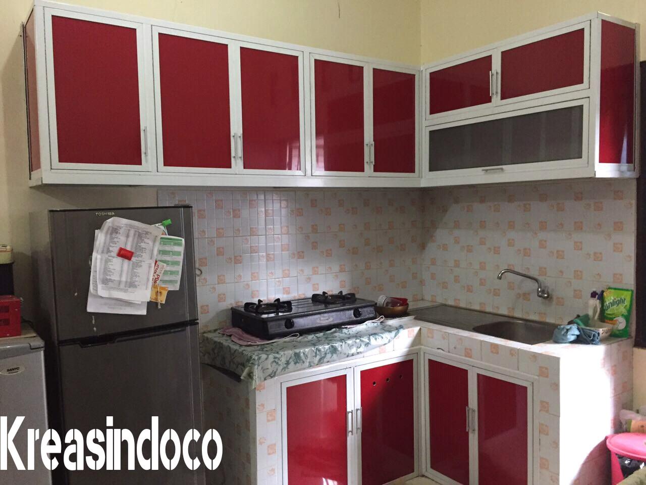 Pemasangan Kitchen Set Aluminium Acp Di Perumahan Studio Alam Indah