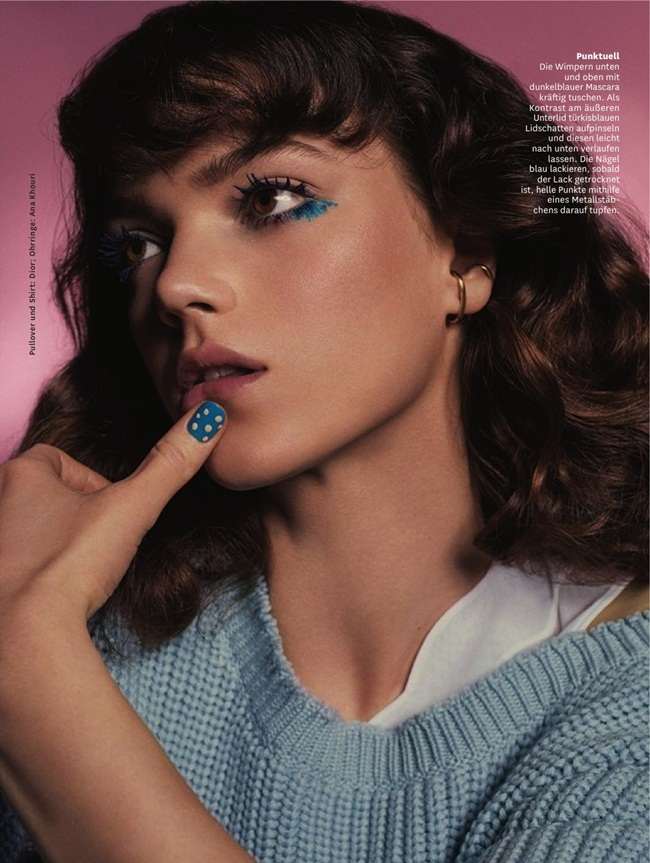 Christian Dior 2016 SS RTW Serenity Blue Cropped Sweater Editorials