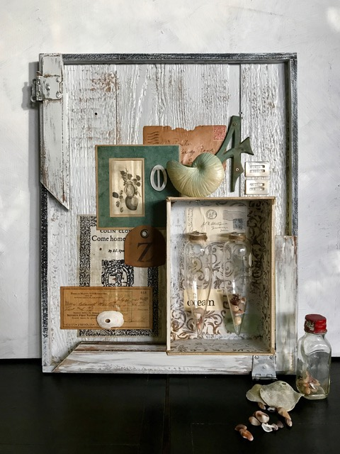 Denise Cerro assemblage with shells