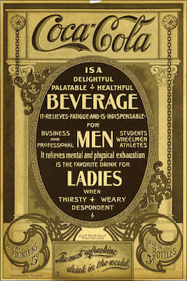 Vintage Coca-Cola advertisement beverage for men and ladies