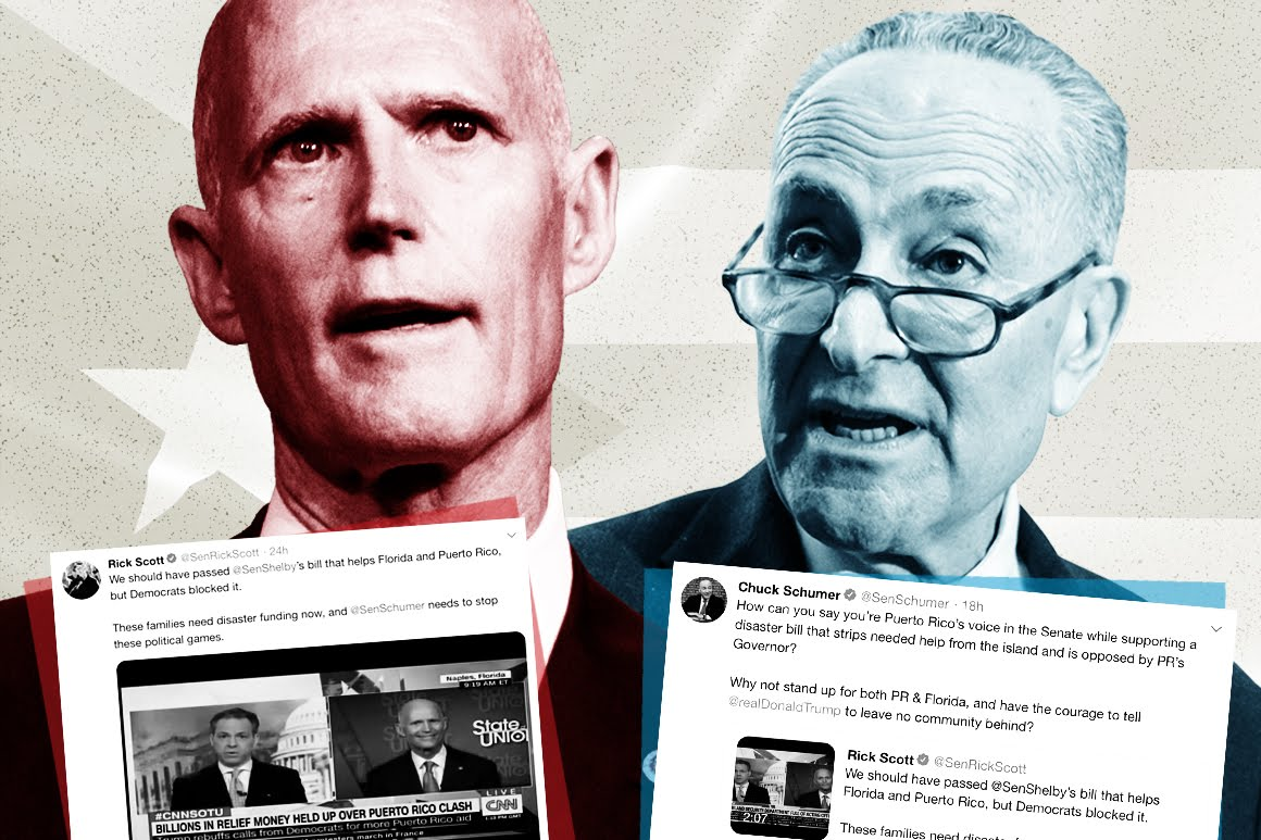 Rick Scott and Chuck Schumer feud over Puerto Rico