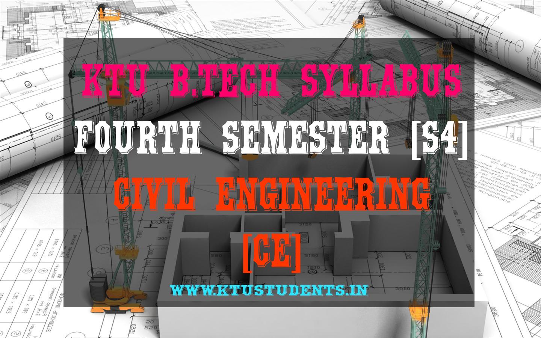 S4 Syllabus Civil Engineering [CE]   KTU Students