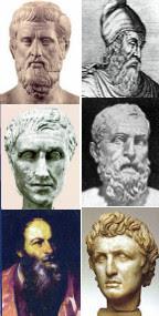 Calcas (s. XIII a.C.), Quilón de Esparta (s. VI a.C.), Zeuxis (398 a.C.), Filemón de Soli (262 a.C.), Crísipo de Soli (208 a.C.) y Pietro Aretino (1556)