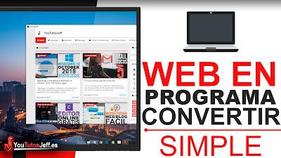 transformar pagina web en programa