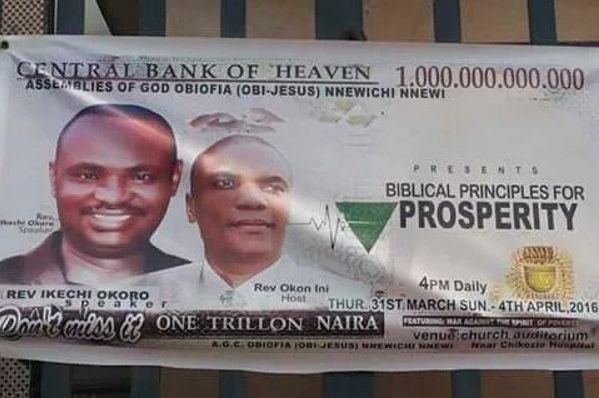 """LOL! You Won't Believe The Name This Igbo Pastor Gave To His Church """" Central Bank Of Heaven""""?"""
