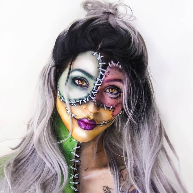2629 Maquillaje Para Halloween Labores En Red - Maquillage-para-halloween