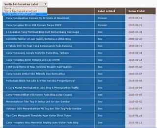 Widget Daftar Isi Blog Style 1