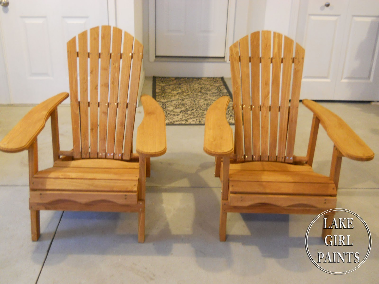 Ideas For Painting Adirondack Chairs Chair With Cup Holder Lake Girl Paints Summer Beach