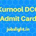 Kurnool DCC Admit Card 2017, Staff Assistant/ Clerk Exam Call Letter