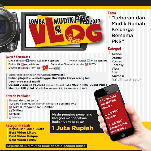 PKS Adakan Lomba Vlog Mudik PKS 2017