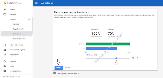 Cara Menggunakan Fitur Ad Balance Google Adsense Cara Menggunakan Fitur Ad Balance Google Adsense
