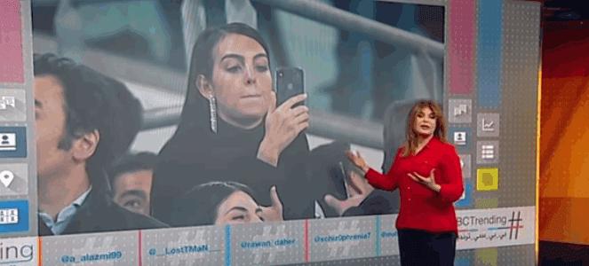 زوجة رونالدو تحتفل بطريقتها بهاتريك رونالدو التاريخي في مرمى اتليتكو مدريد؟