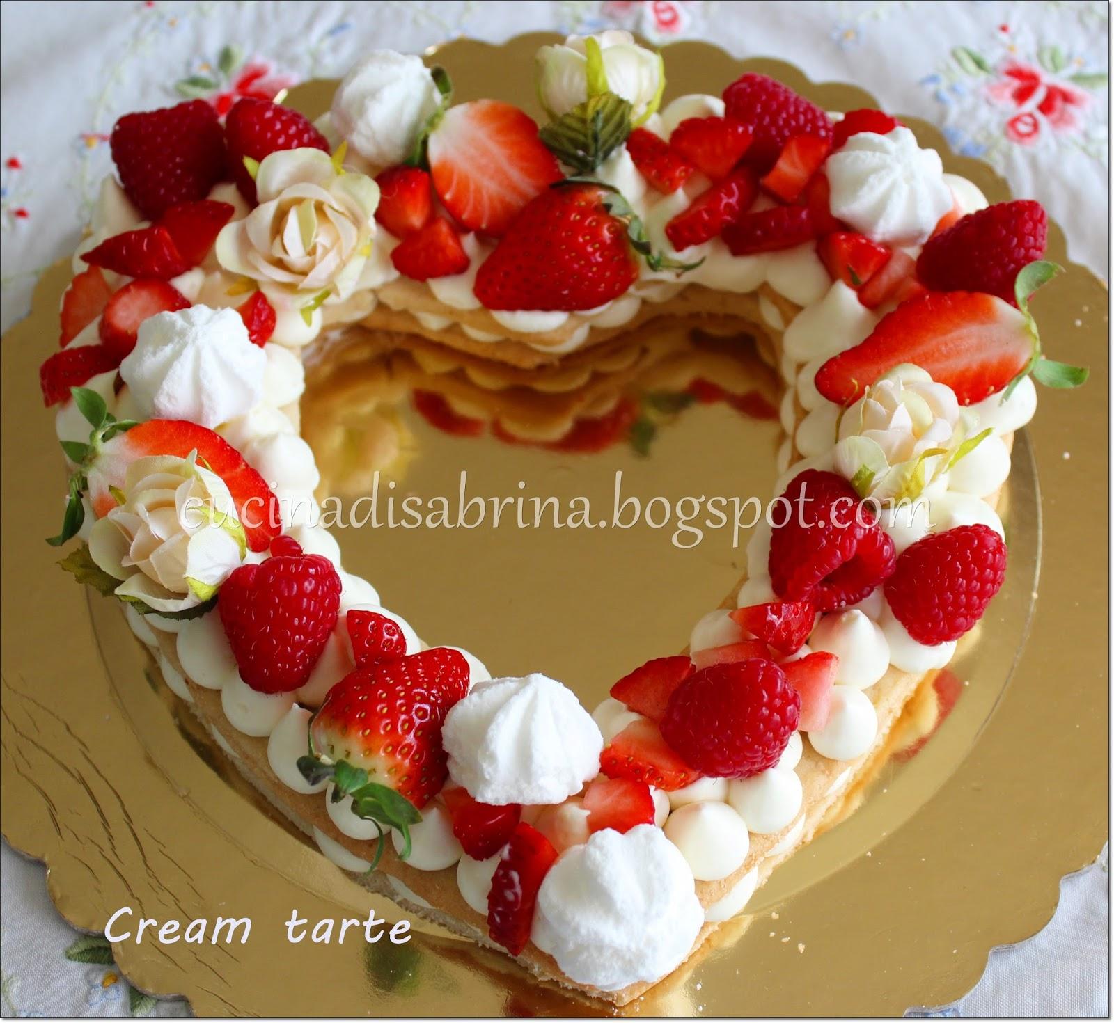 La cucina di sabrina la cream tarte a cuore - La cucina del cuore ...