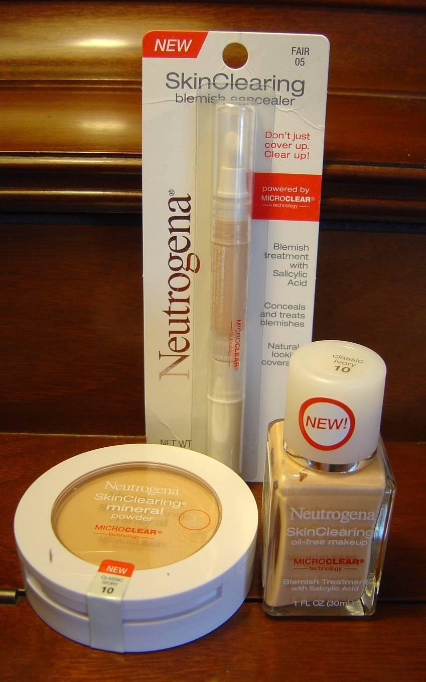 Neutrogena skin-clearning makeup line products.jpeg