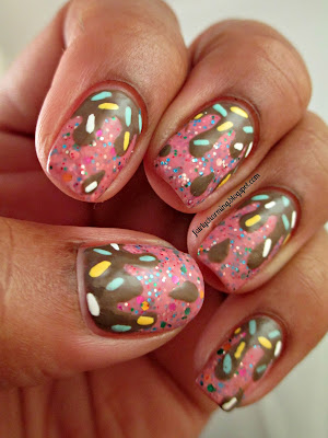 Ice Cream, Love & Beauty Pink Froating, Drip, Drippy, Pink, Glitter, Jelly Sandwich, nails, nail art, nail design, mani