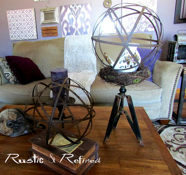Rustic decorating around the home.