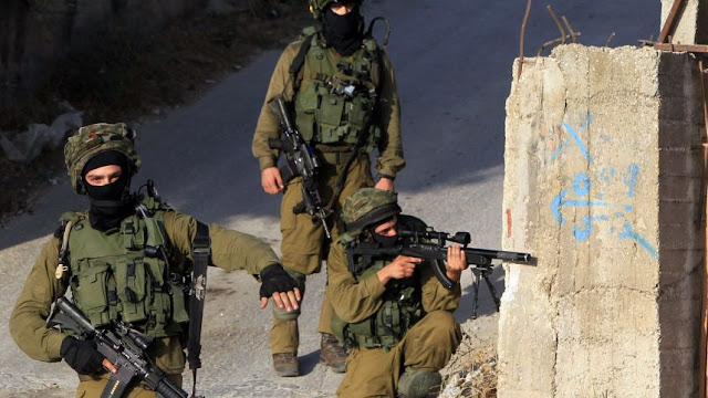 IDF en operación de captura a un policía palestino traficante de armas