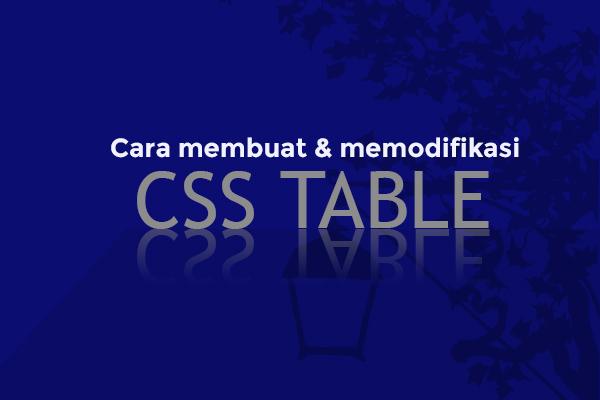 Variasi HTML Table (Cara membuat tabel di blog dengan HTML)