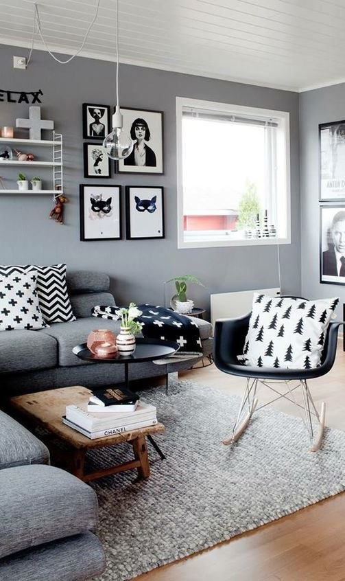 Living Room Wall Colors With Grey Furniture