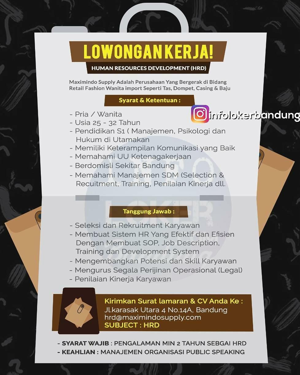 Lowongan Kerja Hrd Maximindo Supply Oktober 2017 Info Lowongan
