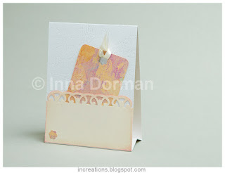 Tent card: pocket and tag