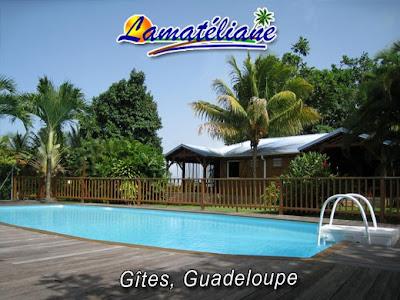 Gîtes Lamatéliane, idéalement entourés de verdure, les bungalows font face à la piscine et au carbet.
