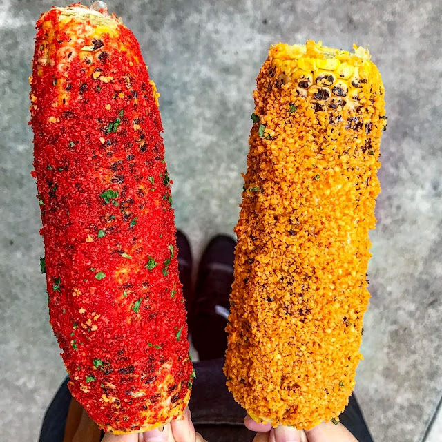 Looking For Those Elote Covered In Hot Cheetos And Doritos? The Vox Kitchen In Fountain Valley Has It