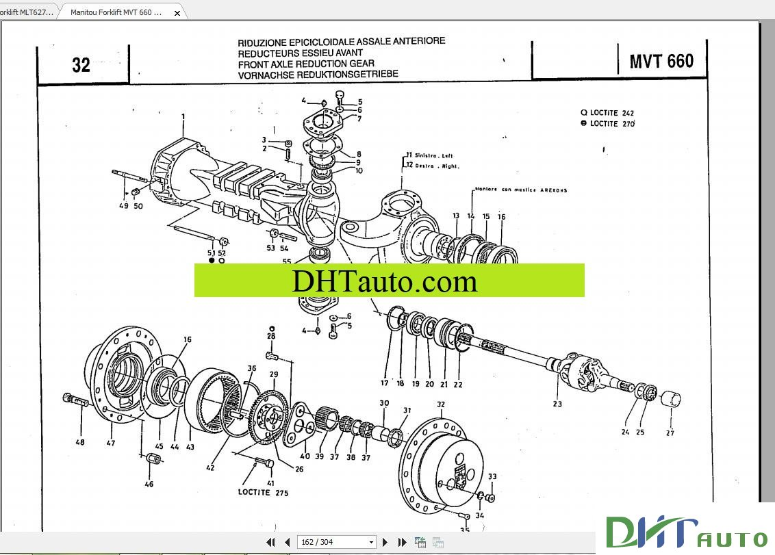 MANITOU MLT Forklift 630-1035 Parts Manual. Link download: