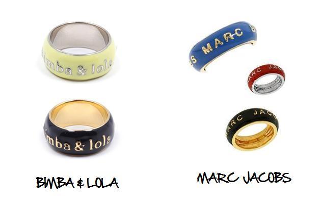 Clones 2011 anillos rings Marc Jacobs Bimba y Lola
