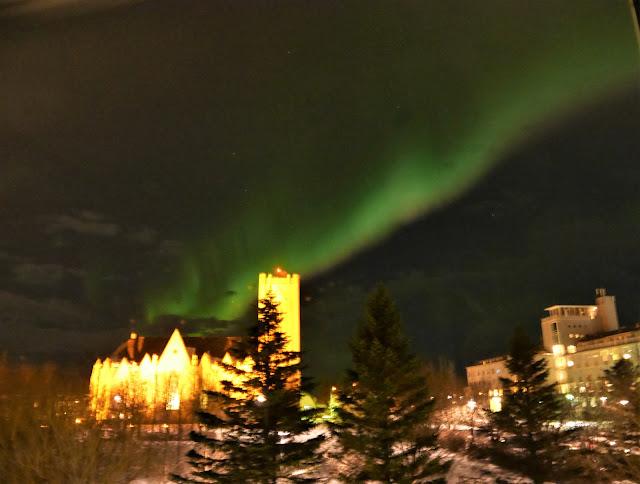 Auroras, Northern Lights, Reykjavik, Auroras from Airbnb