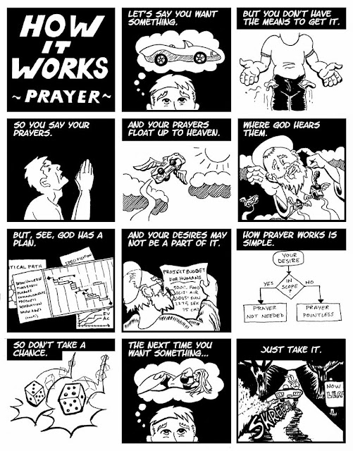 Funny How Prayer Works Joke Cartoon