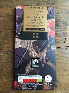 The Co Op Truly Irresistible Dark Chocolate with Raspberry