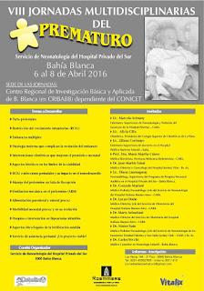 Afiche Octavas Jornadas Multidisciplinarias Prematuro