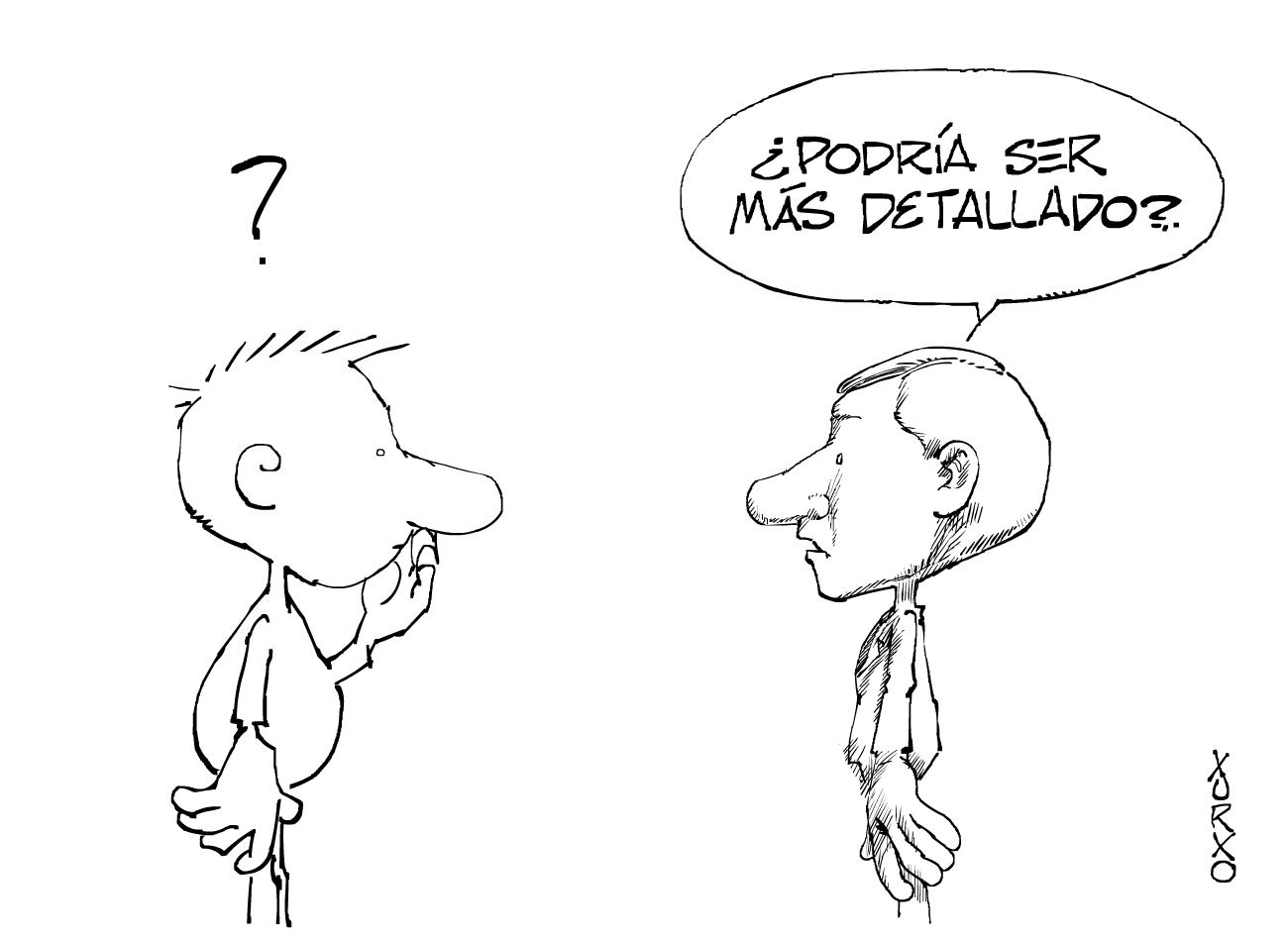 Dos personajes conversando