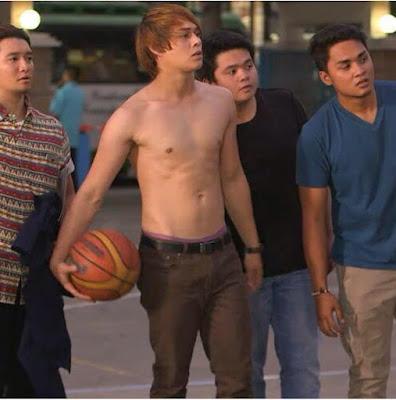 Enrique Gil topless Forevermore basketball scene