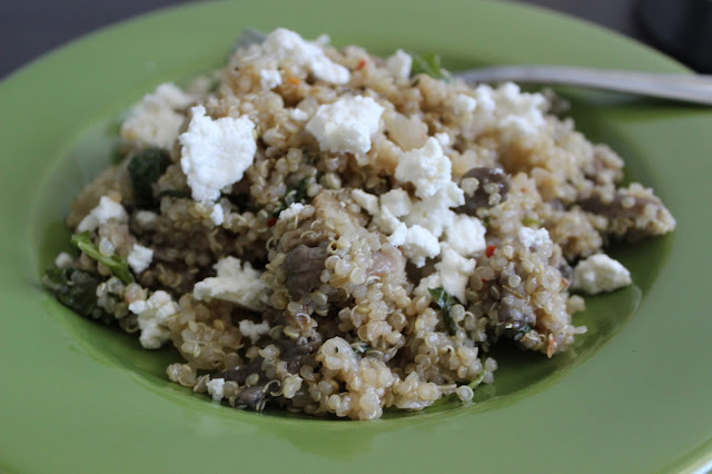 Quinoa with Mushrooms and Sausage | A Hoppy Medium