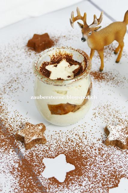 Weihnachtsdessert, Adventsdessert, Dessert im Glas