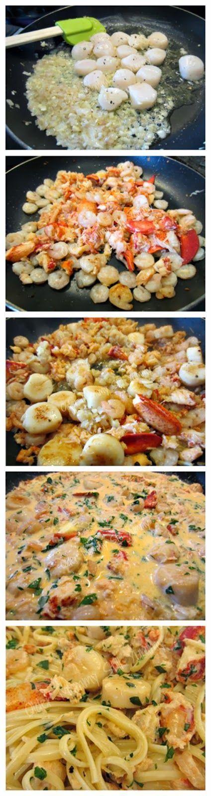 Seafood Línguíne