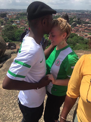 Nigerian man who proposed to white girlfriend on top Olumo Rock