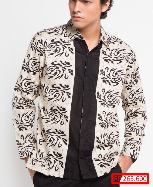 Gratis 23 Model Baju Batik Pria Lengan Panjang Kombinasi Yang