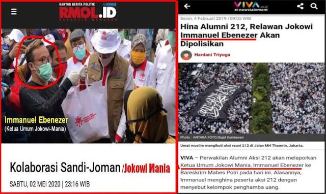 """Pendukung Kecewa, Sandi """"Mesra"""" Dengan Jokowi Mania Penghina Umat Islam"""