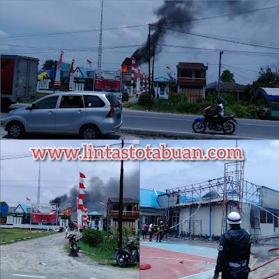Kantor Bea Cukai Kuala Tanjung Terbakar