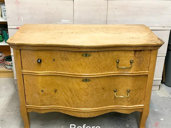 How One Napkin Transformed A Serpentine Dresser
