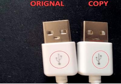 ciri charger samsung original