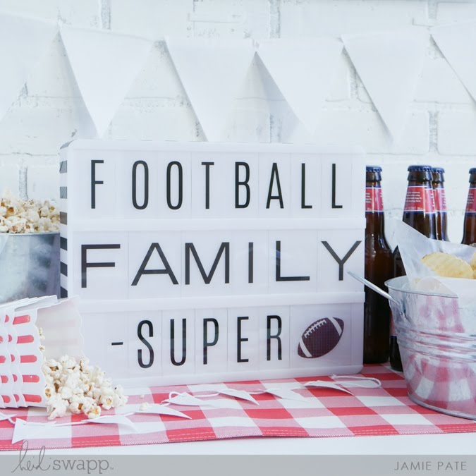 Football + Family + Super! Heidi Swapp Lightbox  |  @jamiepate for @heidiswapp