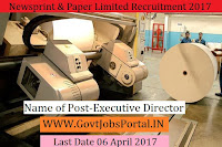 Newsprint and Papers Limited Recruitment 2017– Executive Director