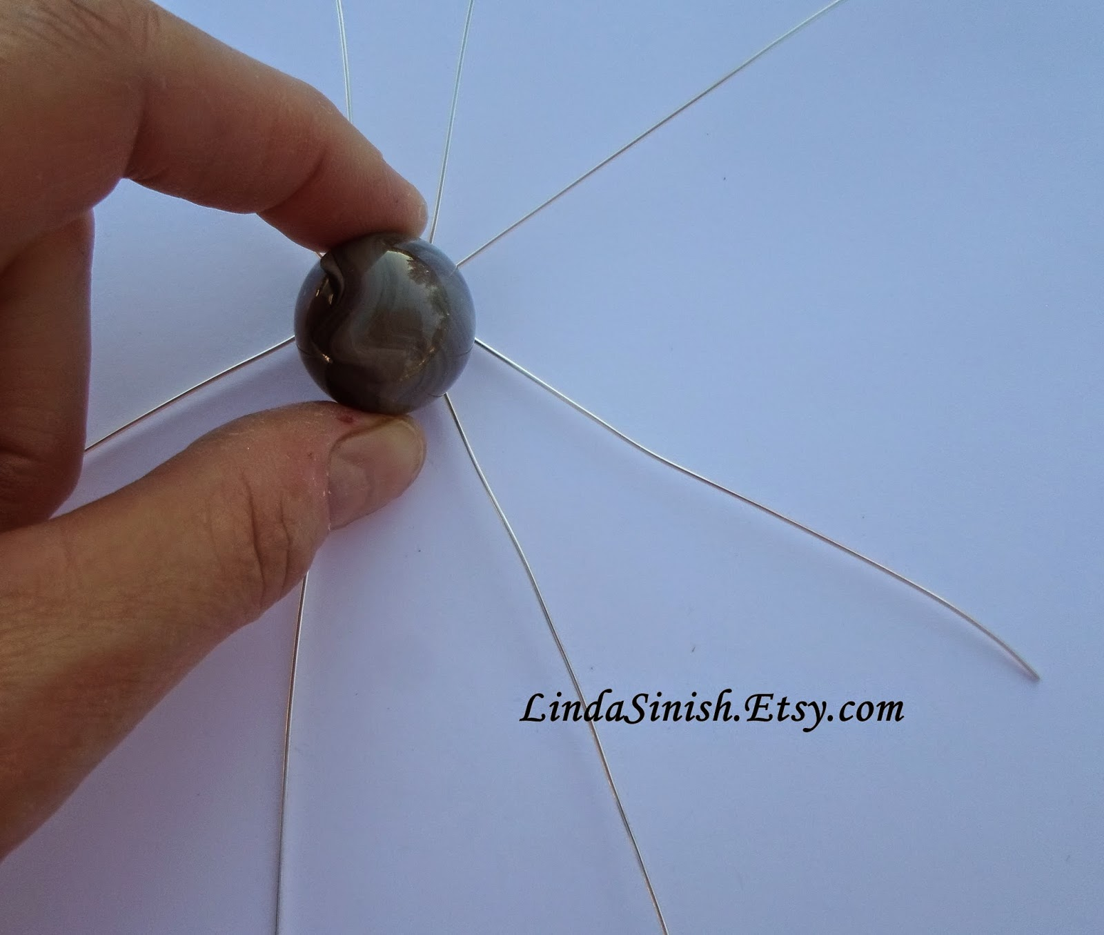 Artyzen Studio by Linda Sinish: Wrapping a Marble Pendant - Free ...