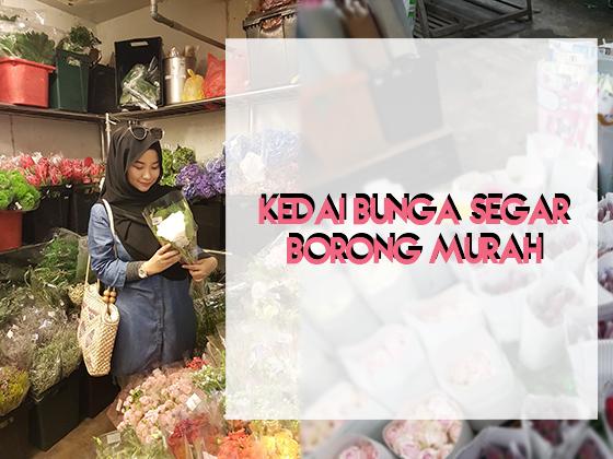 Kedai Bunga Hidup Segar Harga Borong di Petaling Street & Pasar Seni Kuala Lumpur