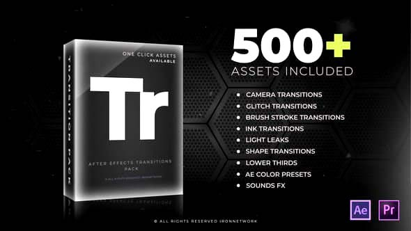 500+ After Effects Transition Pack